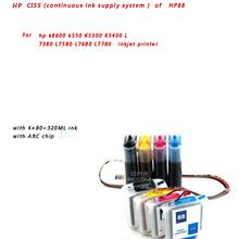 HP CISS (continuous ink supply system ) of HP88 For hp k8600 k550 K5300 K5400 L7380 L7580 L7680 L7780 inkjet printer