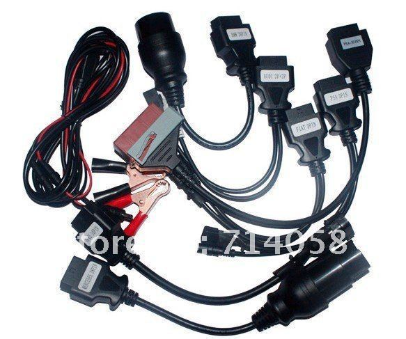 Cool price ! Wholesale good full set of 8pcs car cables for tcs scanner cdp pro plus