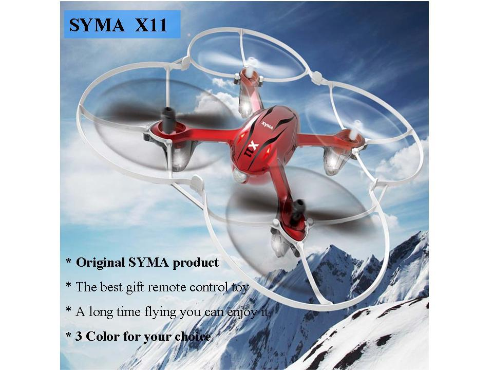 High Quality Original Syma X11 4 Channel 2.4G Mini Metal Remote Control Toy RC Quadcopter Flip Fly UFO 3 Color Choice(China (Mainland))