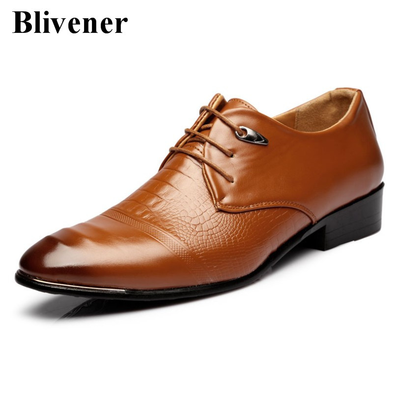 2016 New Arrival Wedding & Party Men Shoes, Black / Brown Mens Dress shoe,Pointed Toe mans footware,zapatillas hombre(China (Mainland))