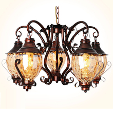 wrought iron chandelier living room antique iron chandelier bedroom vintage iron chandeliers dining room stained glass lamps(China (Mainland))