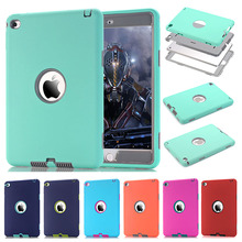For iPad mini 4 Retina Kids Safe Armor Shockproof Heavy Duty Silicone Hard Case Cover w/Screen Protector Film+Stylus Pen(China (Mainland))