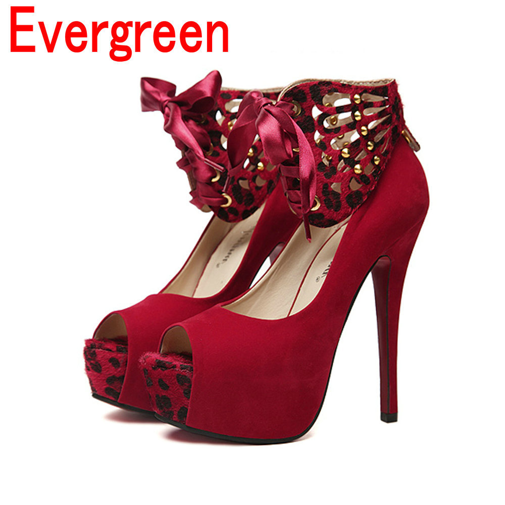 Red 1 Inch Heels
