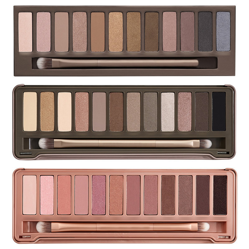 NK 3 2 1 optional 2016 new Brand eyeshadow with brush kit Makeup 12 color Palette cosmetic dropshipping face care(China (Mainland))