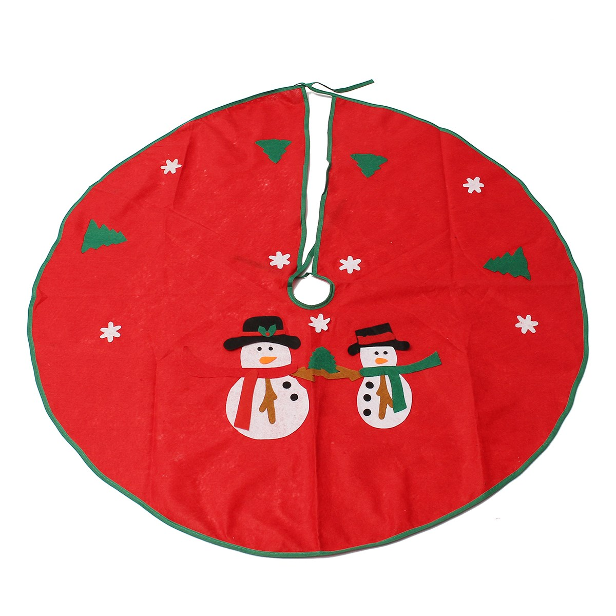 Christmas ornament holders - 90cm Snowman Christmas Tree Skirt Stands Ornaments Xmas Party Decoration Merry Christmas Happy New Year