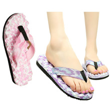 1Pair Summer Beach Flip Flops Women Camouflage Flat Sandals Casual Slippers Comfortable Massage Slippers Free Shipping(China (Mainland))