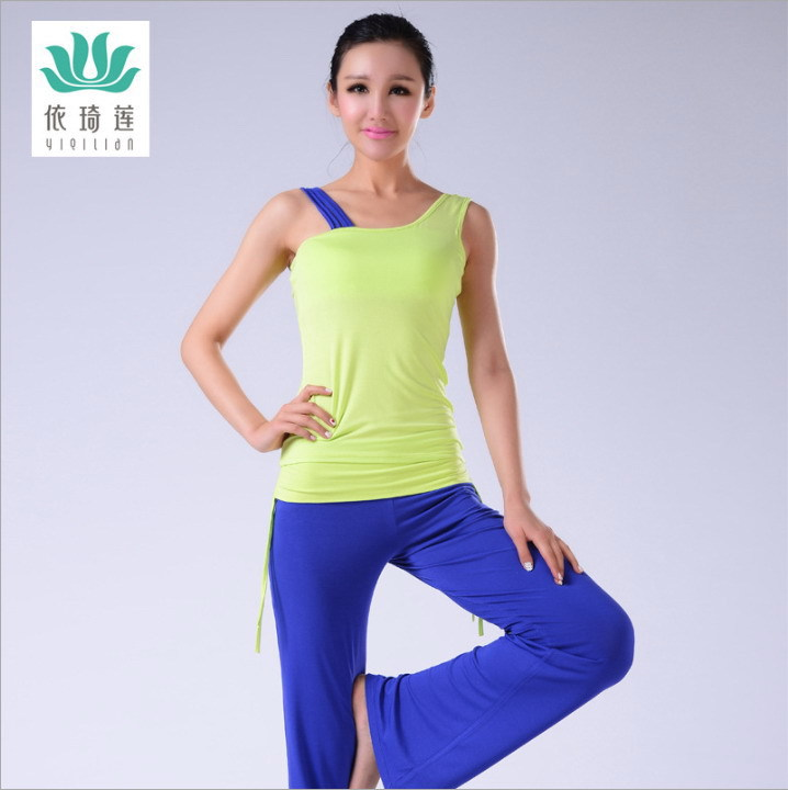 The New 2015 Viscose Soft Wear-Resisting Breathable Moisture Absorption Perspiration Spring, Summer, Yoga, Jump Hold Gym Suit(China (Mainland))
