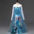 2016 Elsa Anna Long Sleeve Dress For Baby Girl Fashion Elsa Party Clothes Girls dresses Princess