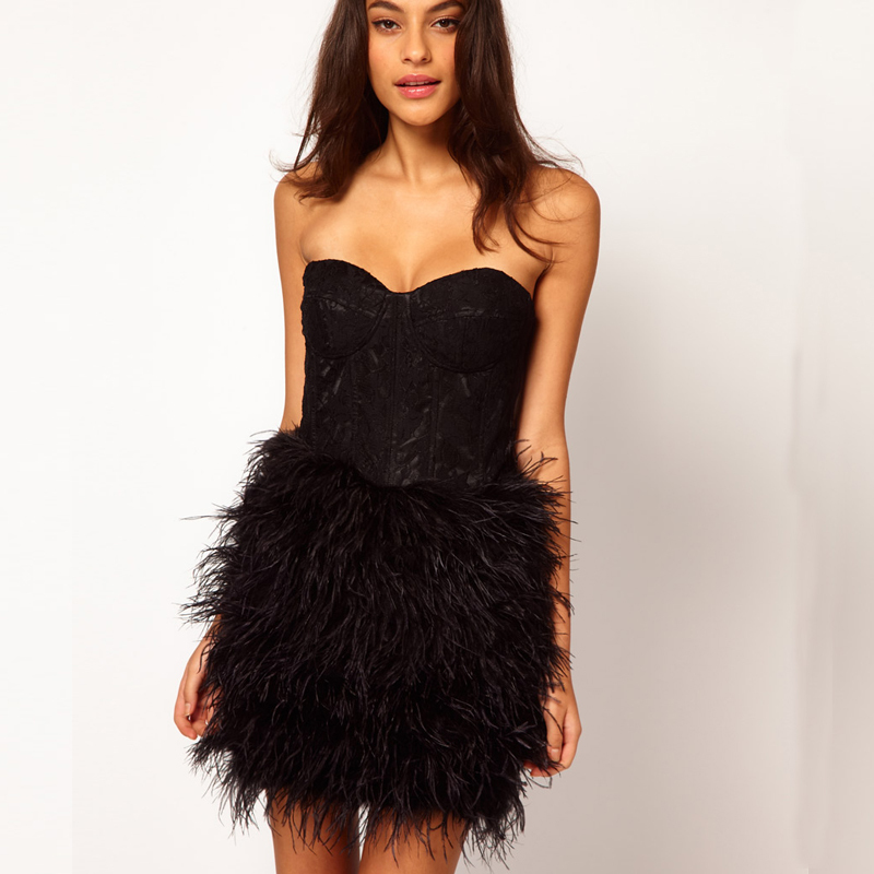 Most Feather cocktail dress 2017