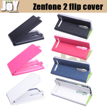 New 2015 Free shipping mobile phone bag PU leather ASUS Zenfone 2 Flip case cover mobile phone accessories three colors