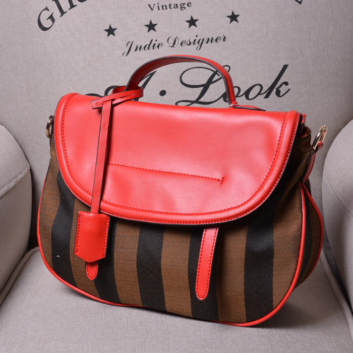 2015 large women messenger bags genuine leather and canvas cross body bag famous brand women handbag fashion shoulder bag(China (Mainland))