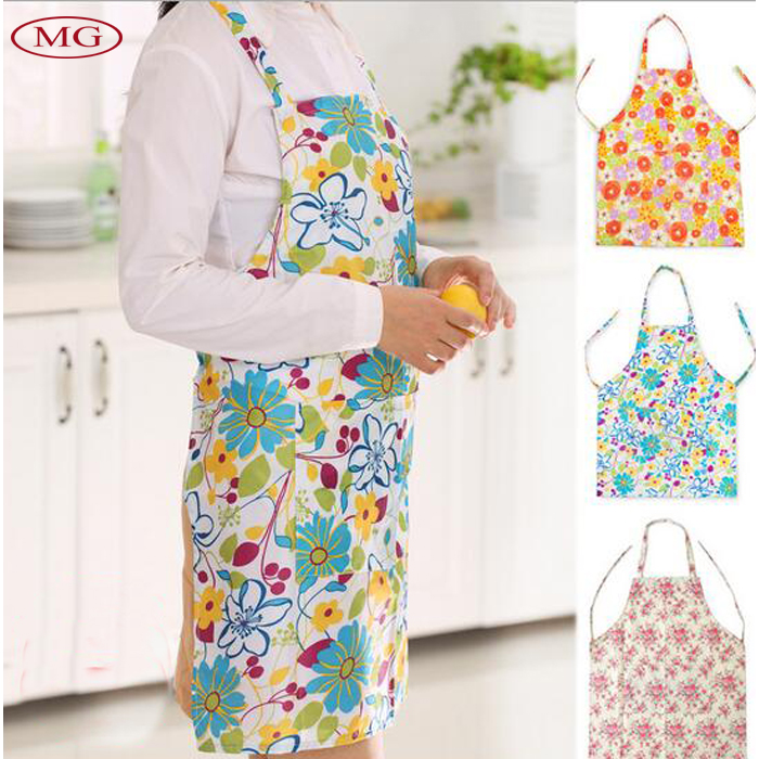 Waterproof & Anti-oil Apron Women Fashion Kitchen Aprons Hostess Gift Cooking or Baking Apron with Pockets 3 Colors(China (Mainland))