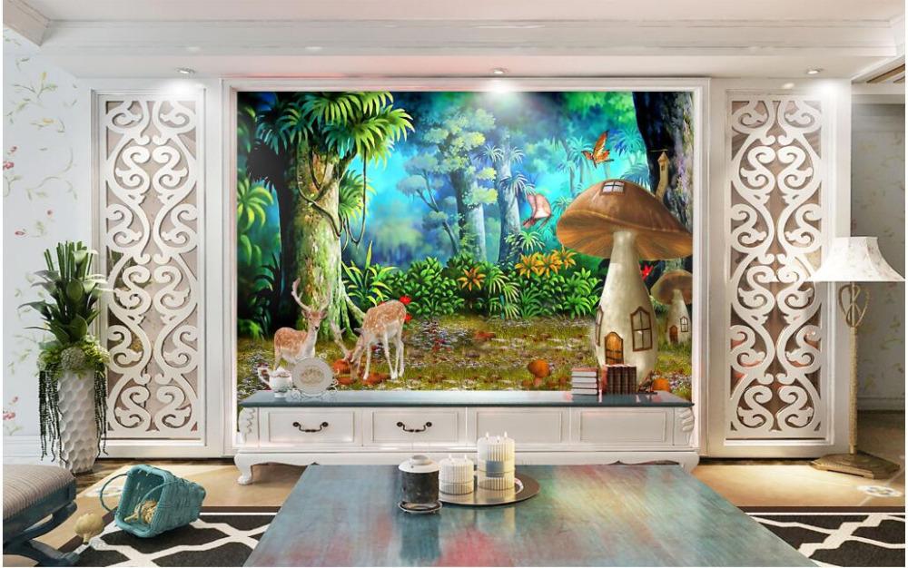 Online get cheap deer wall mural alibaba for Deer wall mural wallpaper