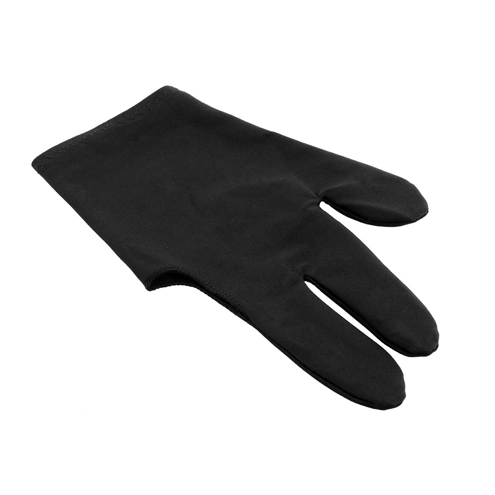 High Quality Durable Nylon 3 Fingers Glove for Billiard Snooker Table Cue Shooter Black Free shipping(China (Mainland))