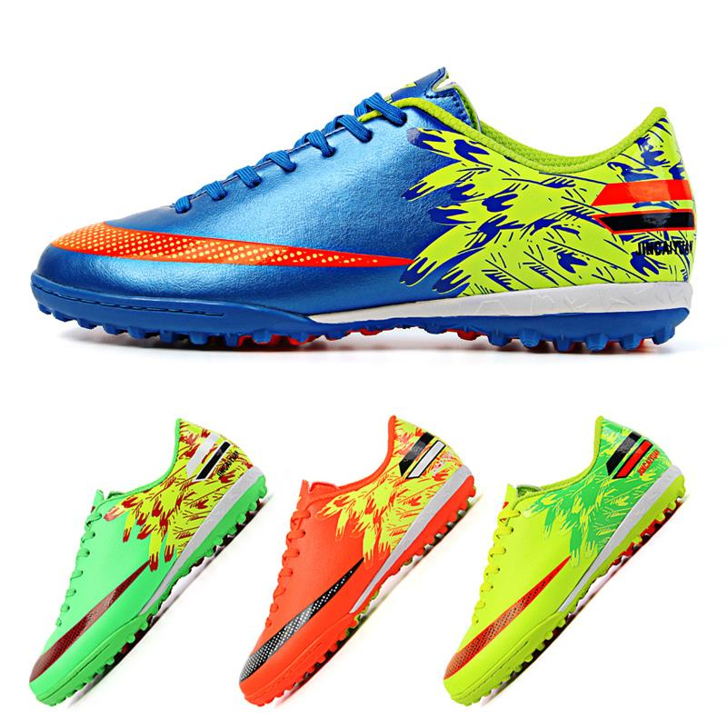 Size 33~45 Men Boy Kids Soccer Cleats Turf Football Soccer Shoes TF Hard Court Sneakers Trainers New Design Brand JCY-2019-2(China (Mainland))