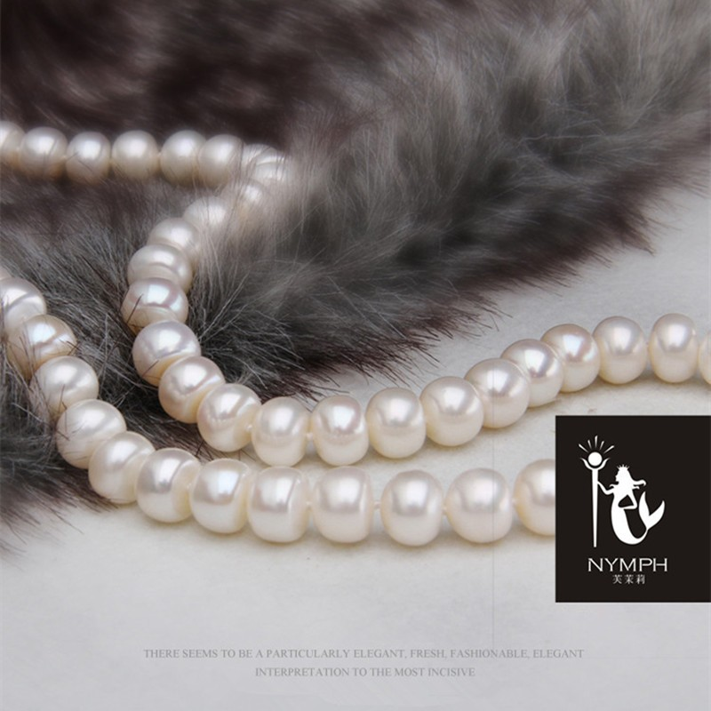 HTB1mboSMVXXXXcnXFXXq6xXFXXXi - [NYMPH] Pearl Jewelry Natural Freshwater Pearl Necklace Choker Necklace Fine Jewelry For Women[QQ]