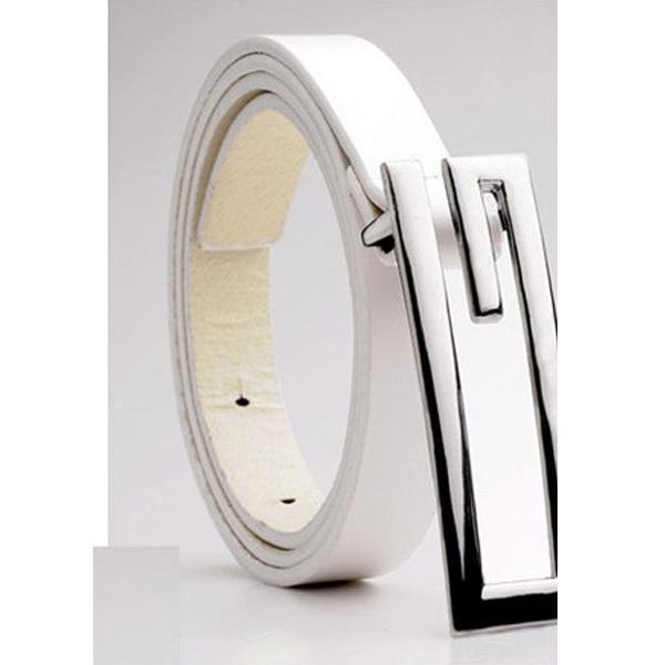 Good Quality Black Coffee White G Head Belt Men Brand Luxury PU Leather Male Belt Fashion