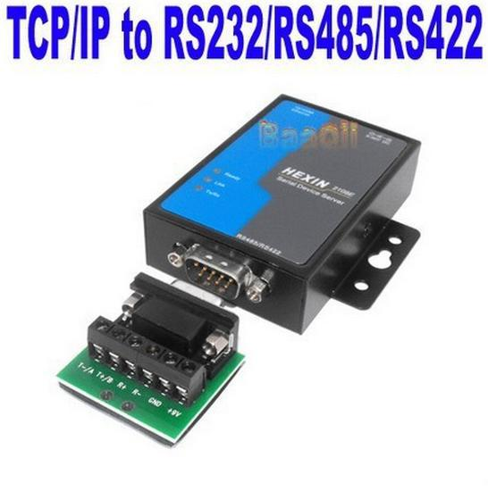 RS232 RS485 RS422 RJ45 Data Convertor Adapter RS 232 485 422 to TCP IP Network Ethernet Modem Communicate Distance 1.8KM 2108E(China (Mainland))