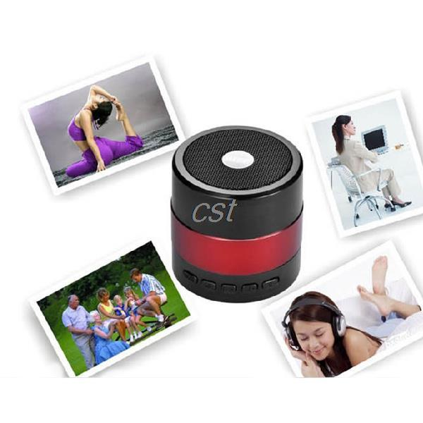 2014 NEW Arrival Bluetooth 15M MINI Portable USB Mp3 Music Player Speaker Music LED FM Red<br><br>Aliexpress