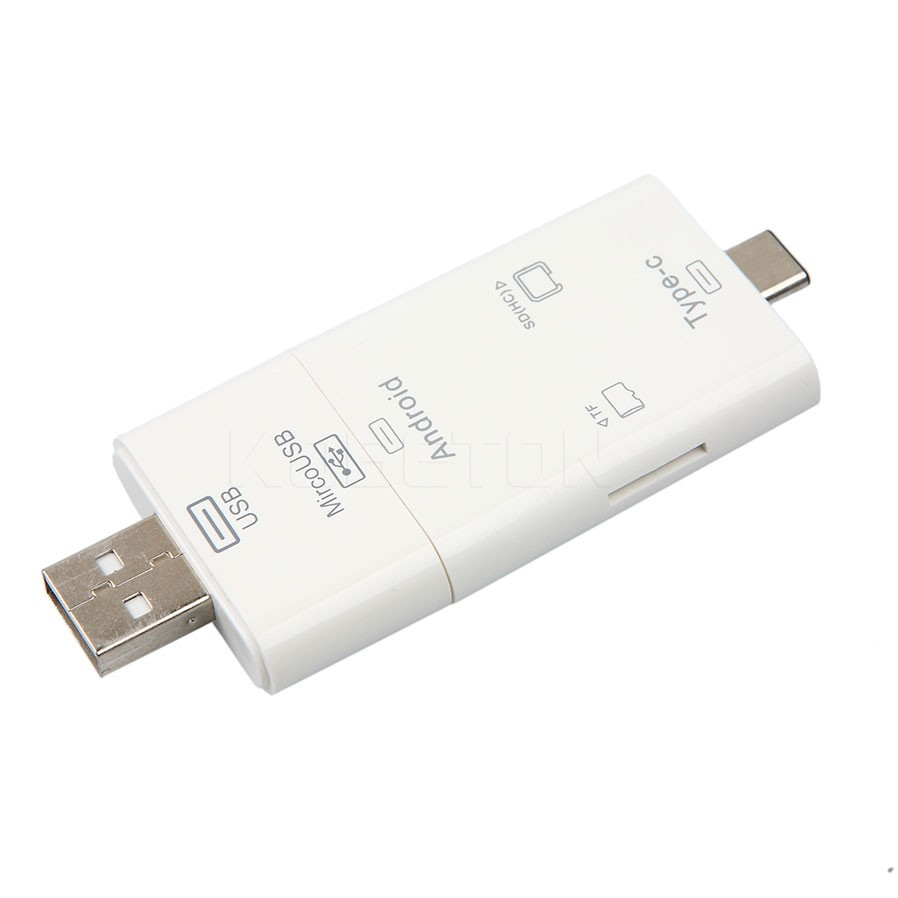 Latest three in 1 iFlash Drive USB Micro SD MMC TF Sort-C Card Reader for All Android Cellphones