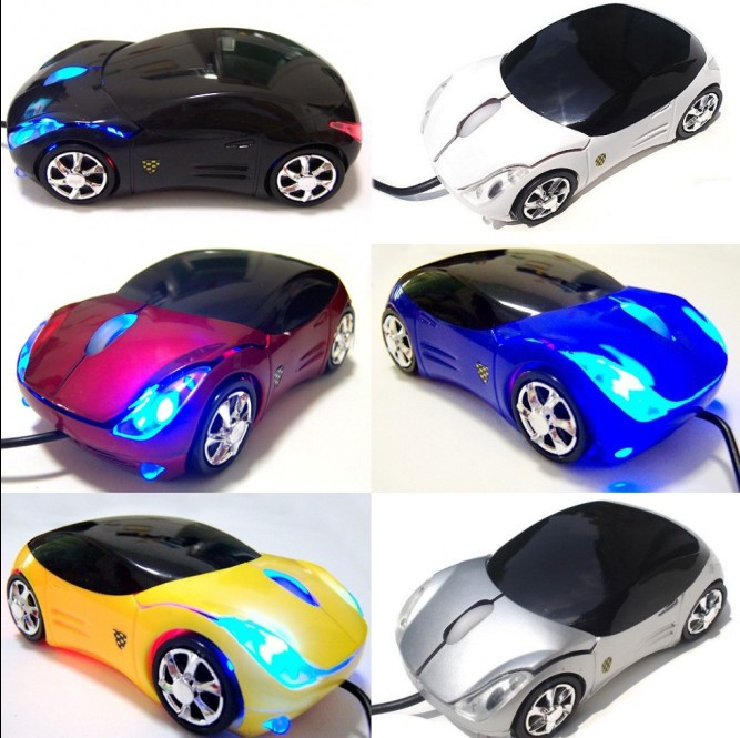 HOT Sale 2014 New RU/USA Top gaming mouse laptops & desktops Car Shape USB 3D Optical wired Mouse Mice Computer Laptop Wholesale(China (Mainland))