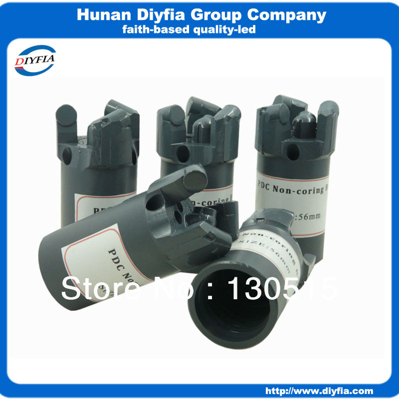 56mmWater well drilling / Coal mining use Concave PDC drill bits For Sandstone, Limestone, Clay Geological PDC core bits(China (Mainland))