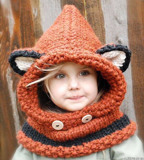 Baby Bomber Hats 2016 Cat Ear handmade Knitted Acrylic Crochet Winter hats For Children 1-10 Years<br><br>Aliexpress