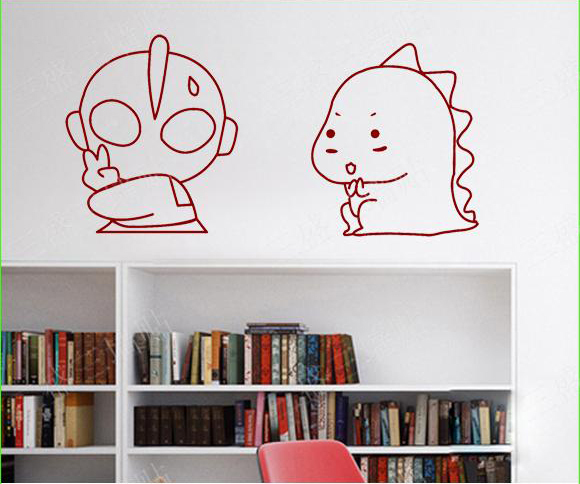 Fashion Cartoon Home Decoration Cute Altman and Dino Essential Funny  Wall Stickers For Kids Rooms Wall Stickers Home Decor