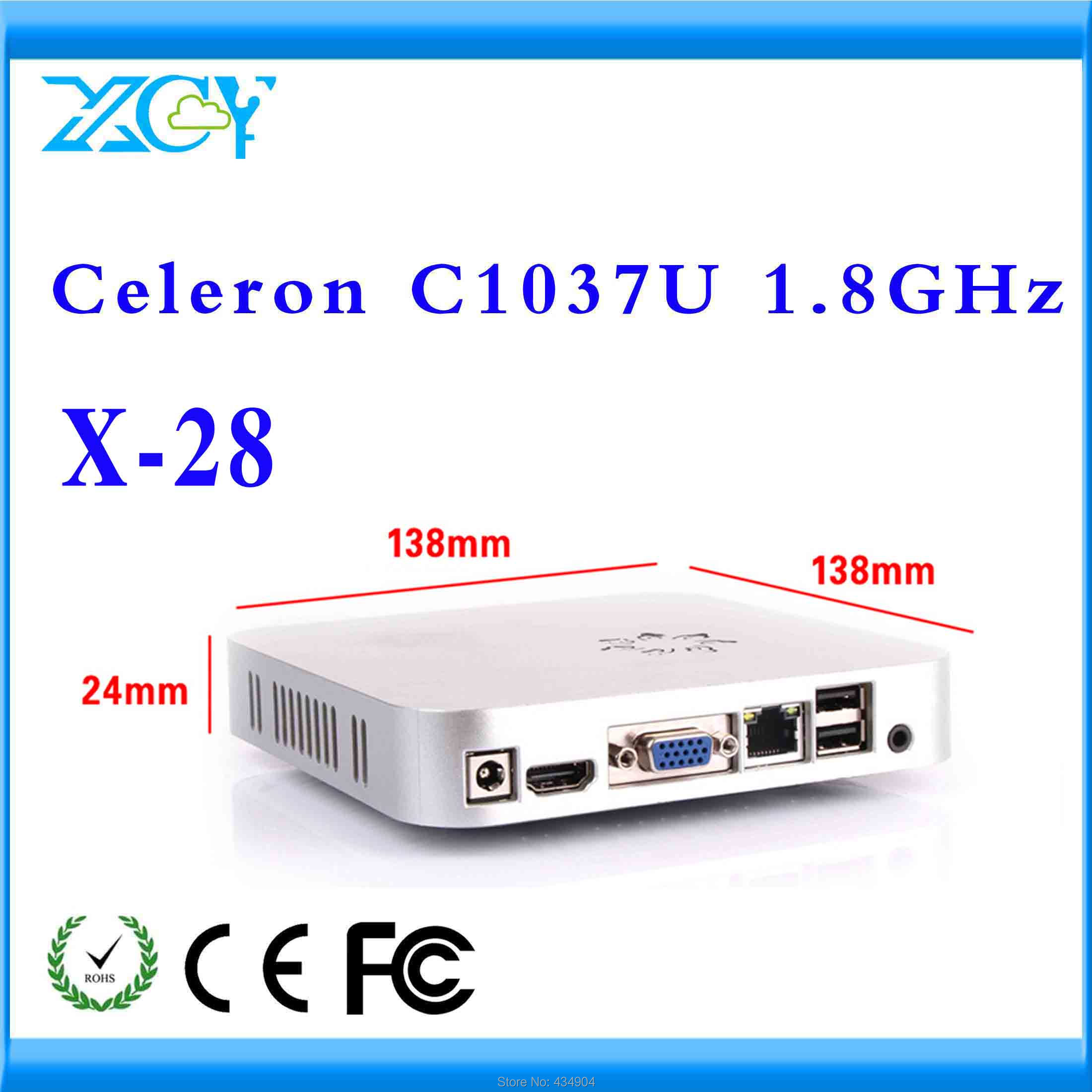 small size but durable mini pc terminal pc windows server mini itx htpc X-28 c1037u very small but powerfull PC support hd video(China (Mainland))