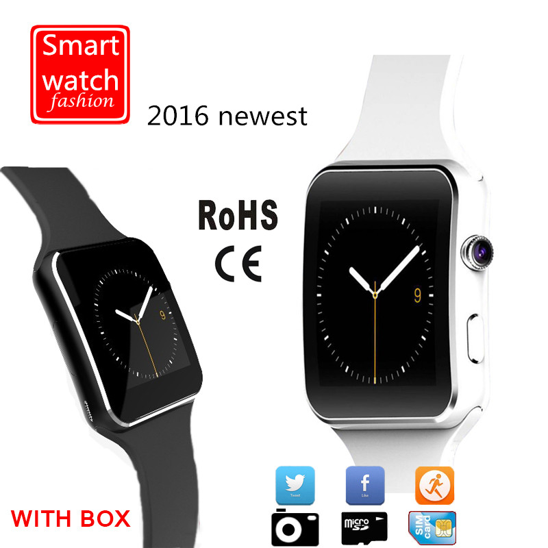 2016 New Bluetooth Smart Watch With Camera Support SIM Card Smartwatch Wearable Devices For Apple iPhone Android Phone PK DZ09(China (Mainland))