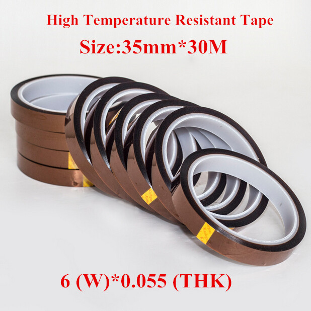 Free High Temperature Resistant Tape Roll 35mm*33m 5pcs/lot Heat Resistant Adhesive Polyimide Insulation Thermal Tape For BGA(China (Mainland))