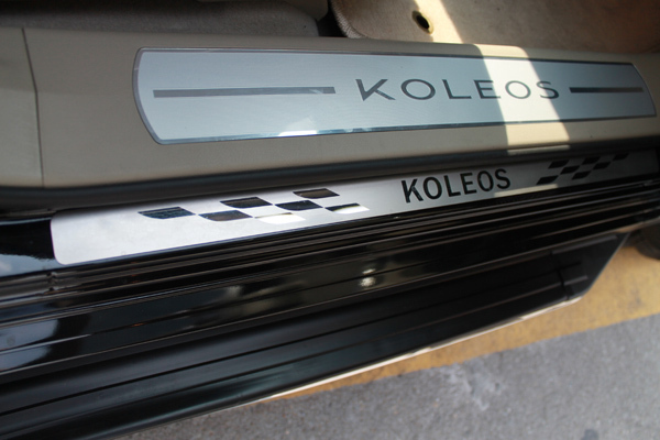 2009-2013 Renault Koleos High quality PVC internal Scuff Plate/Door Sill(China (Mainland))