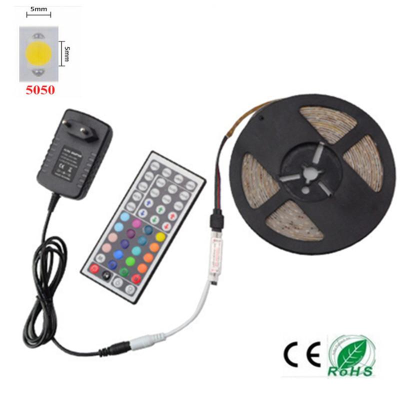 5m rgb led strip light smd 5050 fita de led tiras 12v - Tiras de led rgb ...