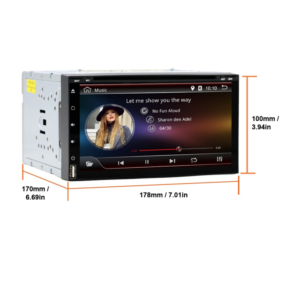 Free shipping Dual core Android4.4 car dvd 2din universal Car DVD Player double din Stereo GPS Navigation car radio android 2din(China (Mainland))