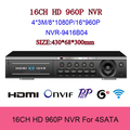 16CH NVR HDMI VGA P2P cloud FULL 1080P H 264 Network Video recorder for home security