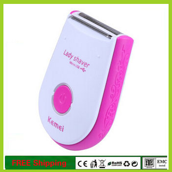 Newest KEMEI Cordless Wet &amp; Dry Lady Shaver Body Women Hair Remover Trimmer USB Charging Bikini Line Good For Women<br><br>Aliexpress