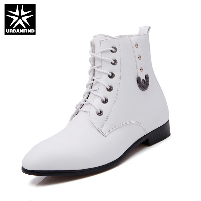 Popular Mens Leather White Boots-Buy Cheap Mens Leather White