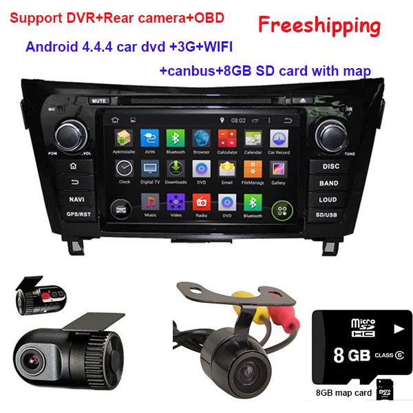 Автомобильный DVD плеер DHCOO 4.4.4 DVD NISSAN QashQai GPS Navi Canbus 3G WIFI DVR SWC автомобильный dvd плеер zhoon android 4 2 2 dvd gps xtrail nissan x trail
