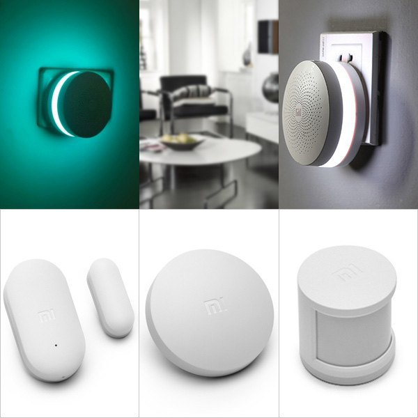 Original Xiaomi Smart Home Security Sensors Suite Equipment  Gateway + Wireless Switch + Windows Door Sensor /+Human Body Sensor