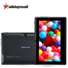 """Alldaymall A88X 7"""" Tablet PC 8GB ROM Android Tablet 7 inch Black Cheapest Tablets Support Quad Core Allwinner A33 1024*600 HD(China (Mainland))"""
