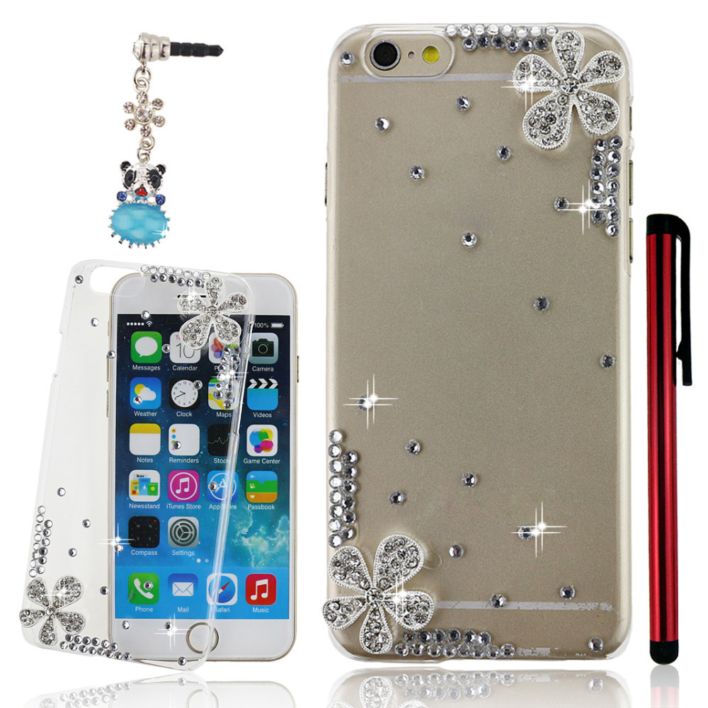 "Free Christmas gift 3D handmade cheapest fasionable shining glitter bling crystal diamond cell phone case fit for iphone 6 4.7""(China (Mainland))"