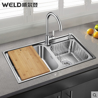 WELD-kitchen-sink-dual-slot-thick-78430-304-stainless-steel-sink ...