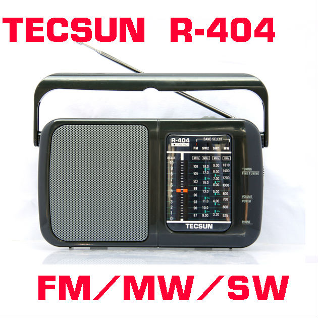 TECSUN R-404 High Sensitivity FM Radio MW/SW Radio Receiver With Built-In Speaker(China (Mainland))