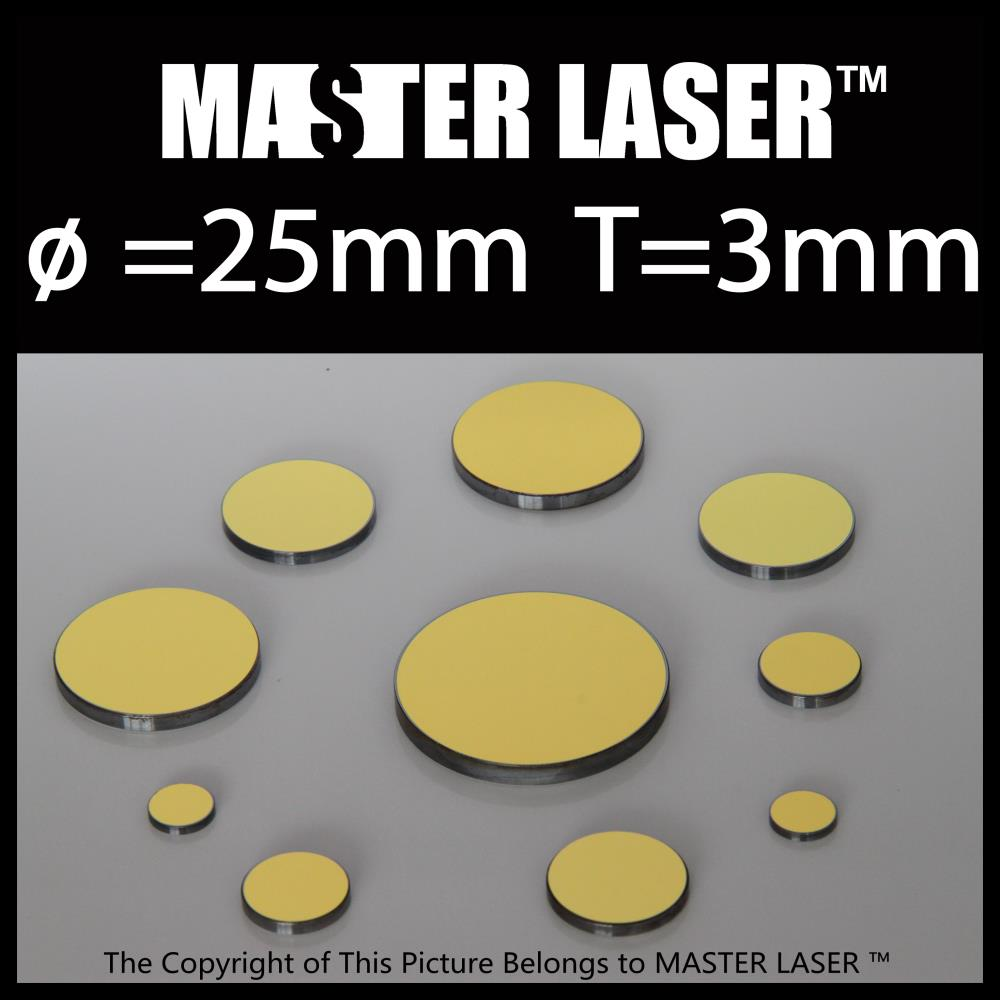 Best Quality CO2 laser Mirror Diameter 25mm Thickness 3mm gold plated silicon CO2 optical mirror(China (Mainland))