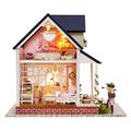 Handmade Doll Home Furnishings Miniatura Diy Doll Homes Miniature Dollhouse Wood Toys For Kids Grownups Birthday Reward H08
