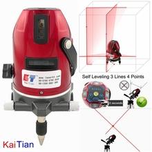 Rotary Laser Level Tripod Slash Function Cross Level Laser 635nM Leveler 3 Lines 4 Points Euro