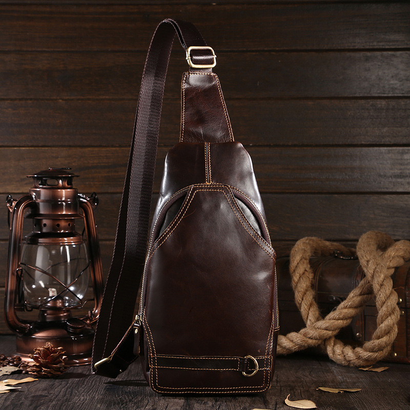 2015 retro fashion genuine leather small men messenger bags casual sports travel shoulder bags for men chest bag crossbody bag
