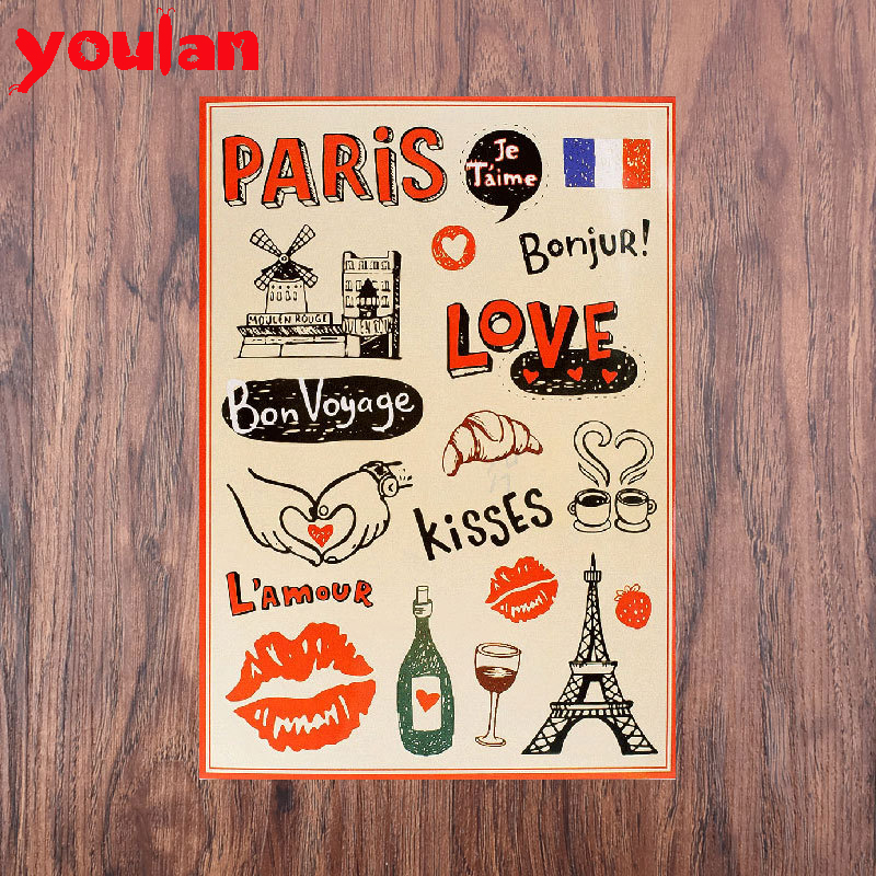 Great ! Tower Paris Vintage Computer Laptop Sticker Trolley Luggage Suitcase Sticker For Guitar Skateboard Car Stickers MY25(China (Mainland))