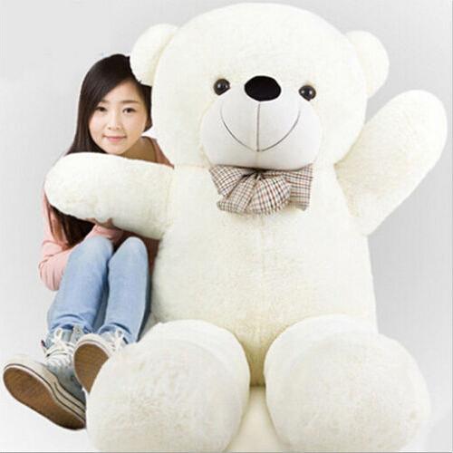 180CM/1.8M giant stuffed teddy bear big huge animals kid baby plush toy dolls life size teddy bear girls toy 2016 New arrival(China (Mainland))