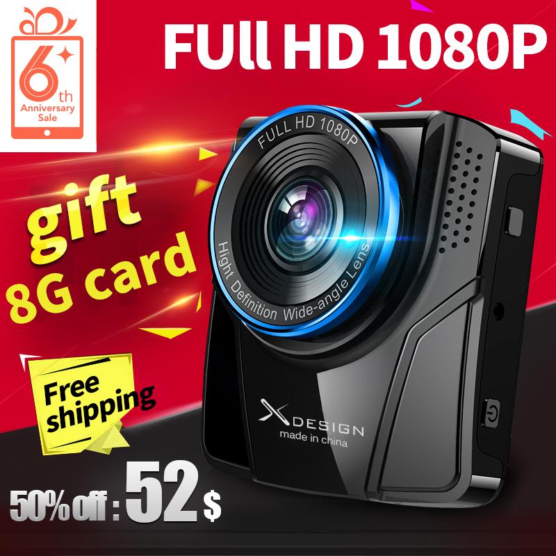 Gift 8G card!Free shipping100% Original Novatek Mini Car DVR Camera XGE-X1 Full HD 1080P Video G-sensor Night Vision Dash Cam(China (Mainland))